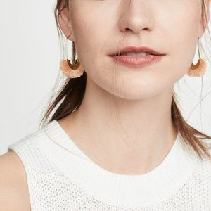 [NWT] Madewell Arc Wire Fringe Earrings in Peach